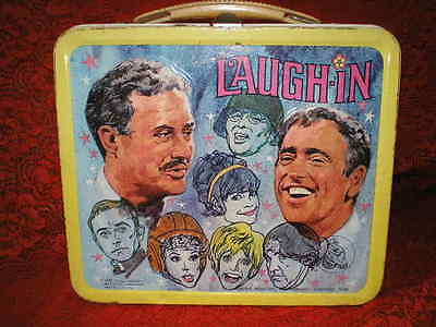 Vintage 1968 Laugh In Nazi Helmet Aladdin Industries Metal Lunch Box! No Thermos