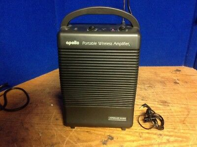 Apollo Commercial Wireless Amplifier Amp Ac Dc Battery Pa-5000 Portable Used