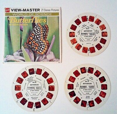 Vintage 1955 GAF ViewMaster Butterflies of North America Nature World of Science