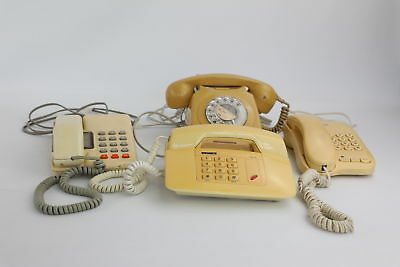 4 x Vintage Telephones Mixed Designs Inc. Dial & Push Button Untested