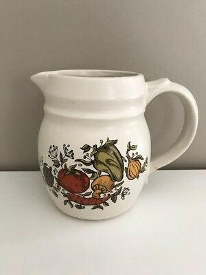 Small Pitcher  McCoy MCoy Beige with vegetable decor Vintage