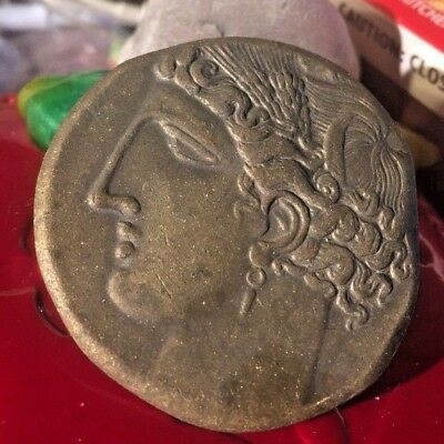 Ancient BC Greece Coin Rome Tanit Goddess Poseidon Pegasus Shekel Bronze Unknown