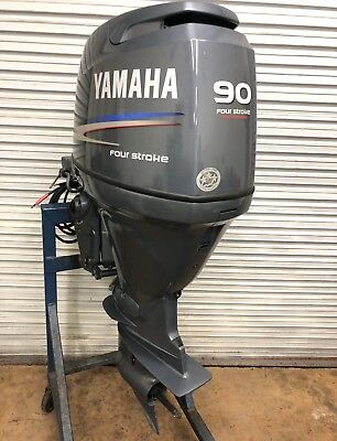 YAMAHA 90HP F90TLR 90 HP Outboard Motor F90 WITH ONLY 135 HOURS!