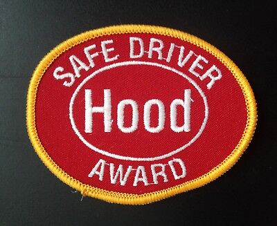 Dairy Embroidered Patch~H.p. Hood Dairy, Lynnfield, Mass. Safe Driver Award