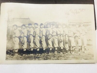 Vintage Early 1900's Celoron Ny Bc ?baseball Team Rppc Postcard In Uniforms Neat