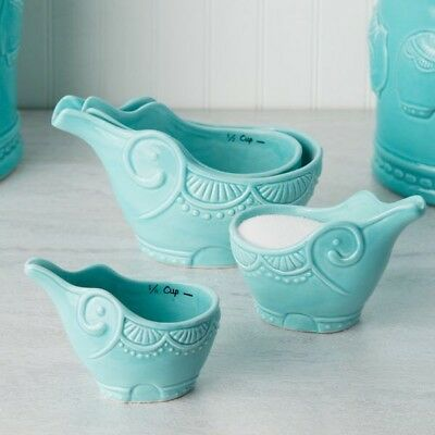Turquoise Elephant Measuring Cups