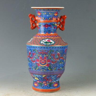 China Painted Porcelain Hand Painted Vase Mark As The Qianlong GL400