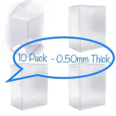 "10 FUNKO POP! BOX PROTECTORS FOR 4"" VINYL FIGURE .50mm Super Thick CLEAR CASES"