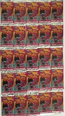Dreamworks Trolls Movie Trading Card Game 25 Sealed Pack Lot Normal $50 RRP