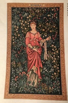 """Pomona tapestry designed by Wm Morris, 19"""" x 32"""" made in France"""