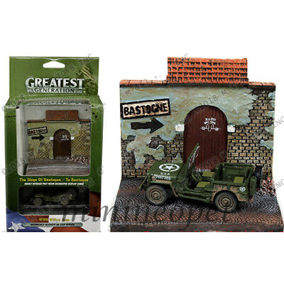 DIRTY VERSION JLCP7065 Johnny Lightning 1//64 WW2 Willys Jeep With Top Up