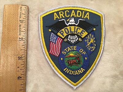 Arcadia Police Patch INDIANA