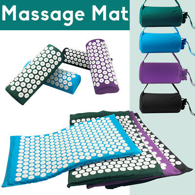Acupressure Massage Mat with Pillow for Stress/Pain/Tension Relief Body Relax AU