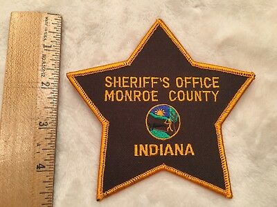 Monroe County Sheriff's Office Police Patch INDIANA