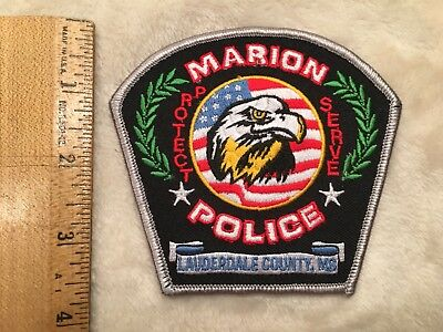 Marion Police Patch Mississippi