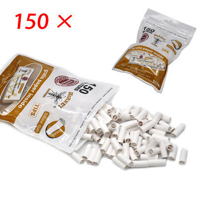 150PC 6MM Hornet Per Rolled Tips Natural Prerolled For Cigarette Rolling Paper