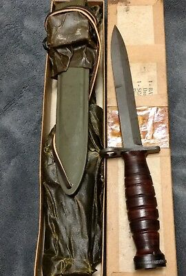 Wwii Usm4 Fighting Knife Bayonet & M8 Scabbard *pal In Original Box *unused* Ex*