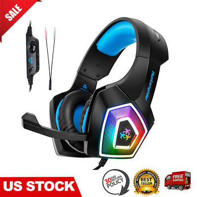 PC Gaming Headset headphone with Mic for Xbox One & Wired PS4 Computer Laptop