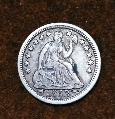 1853 With Arrows Silver Half Dime From Old Type Coin Collection