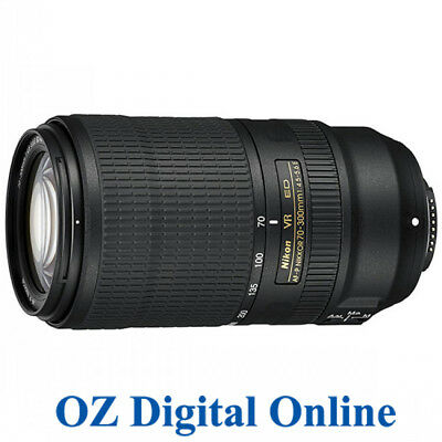 New Nikon AF-P Nikkor 70-300MM F/4.5-5.6E ED VR Lens for D750 D7500 1YrAuWty