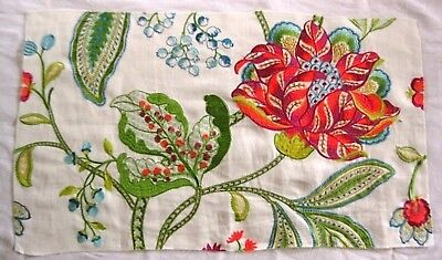 "w3v MANUEL CANOVAS DANA WOVEN/EMBROIDERED FLORAL FABRIC REMNANT 24"" x 14"""