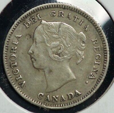 1886 Canada Five Cents 5C Coin