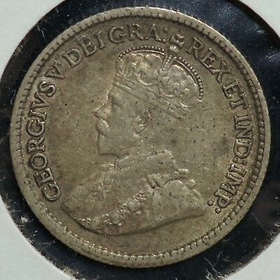 1916 Canada Five Cents 5C Coin