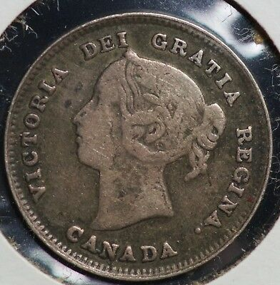 1891 Canada Five Cents 5C Coin