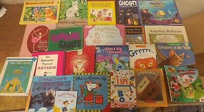 Lot of 20 K-5 Scholastic Learn to Read Picture Mix Set Kid Children Book #Z82 NR
