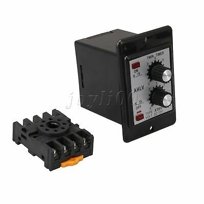 DC 12V Delay Timer ATDV-Y Repeat Cycle Time Relay Adjustable 0-6s