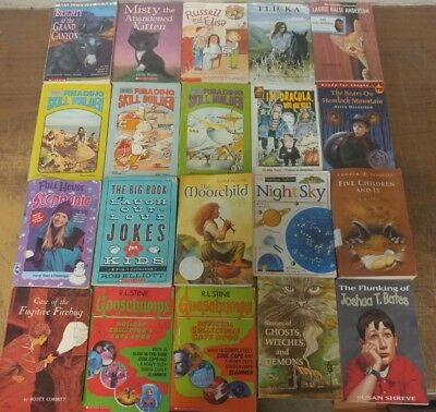 Lot of 20 Chapter Scholastic Disney RL 2 3 4 5 Child Books AR MIX UNSORTED #Z84