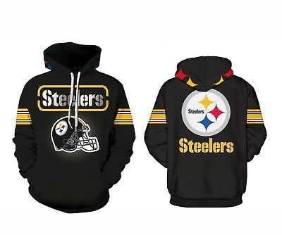 newest a0127 76762 PITTSBURGH STEELERS HOODIE Medium-XXXL 3XL Unisex Men Women Football Steel  City