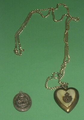 Vintage U.s.navy Jewelry Sterling Silver Pendant Heart Shaped Locket Military