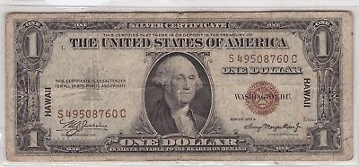 Series 1935 A One Dollar Silver Certificate HAWAII $1 Note | 2