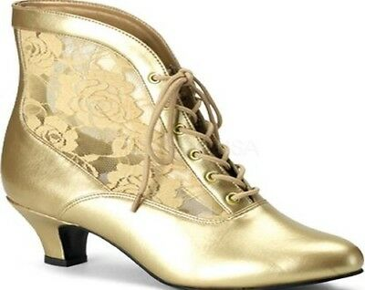 Gold Wedding boots, US Size 9, with Lace flower pattern. Excellent condition.