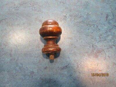 Base finial for Vienna regulator wall clock finial turned hardwood