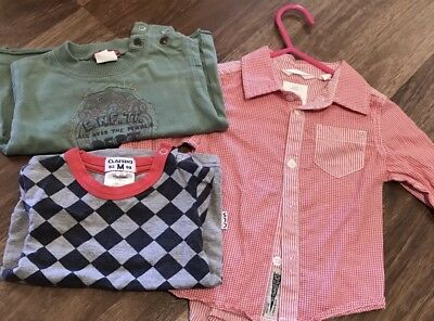 Boy's *~*COUNTRY ROAD  *~*   Long Sleeve Shirt Claesen's Top  Size 3-6 Months 00