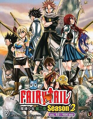 FAIRY TAIL CHAPTER 1-24/49-72 ANIME Import dvd lot 12 discs