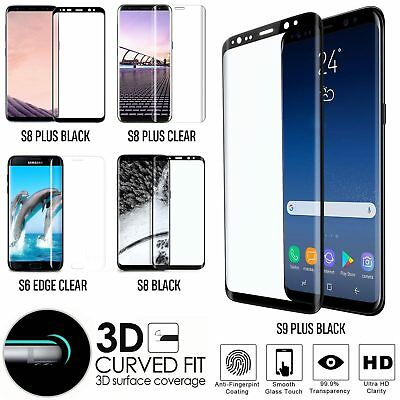 Tempered Glass Protection Screen Cover For Samsung Galaxy S9 Plus S8 & S6 Series