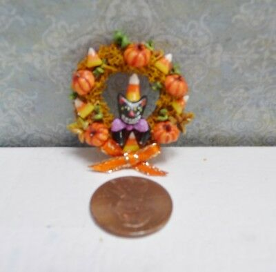 Cute 1:12 Scale Miniature J. Dunn Halloween Wreath