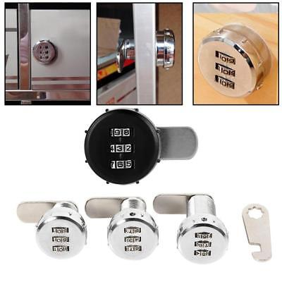 Zinc Alloy 3-Digit Code Combination Cam Lock Keyless Box Cabinet Password Lock