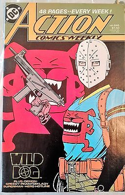 Action Comics Weekly #640 Feb 1989 DC Book Wild Dog Featured on ARROW TV SHOW VF