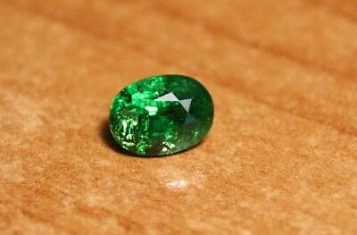 1.18ct Tsavorite Garnet - Rare Emerald Green Oval Cut Gem - Top Colour