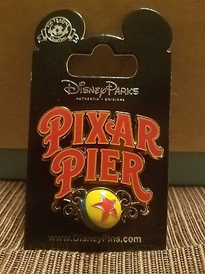 Disney Parks & California Adventure Pixar Pier Logo Pin Luxo Ball Disneyland 3D