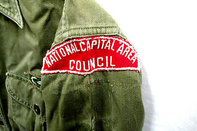 1950's Vintage NCAC Red+White Strip BOY SCOUT UNIFORM, Mens Medium,  #34