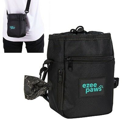 Ezee Paws Dog Walk and Treat Bag With Built-in Waste Poo Bags Dispenser inclu...