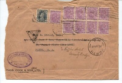 INDIA - Very Old Cover with multiple stamps from 1941
