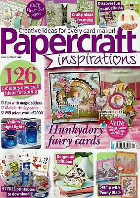 Papercraft Inspirations  Magazine Issue 175   March  2018.    Free Gifts