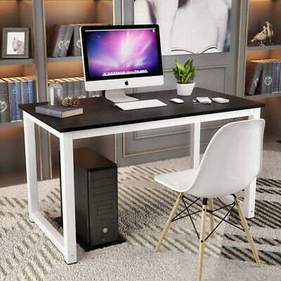 MDF Board Computer Desk Home Office Writing Table WorkStation Wooden & Metal