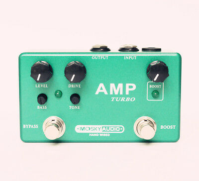 Hand-Made  AMP TURBO  guitar effect pedal  Boost And Overdrive 2 effects in 1